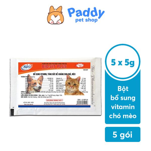 Bột Vitamin Bio Vit Plus tăng sức đề kháng cho chó mèo (5g)
