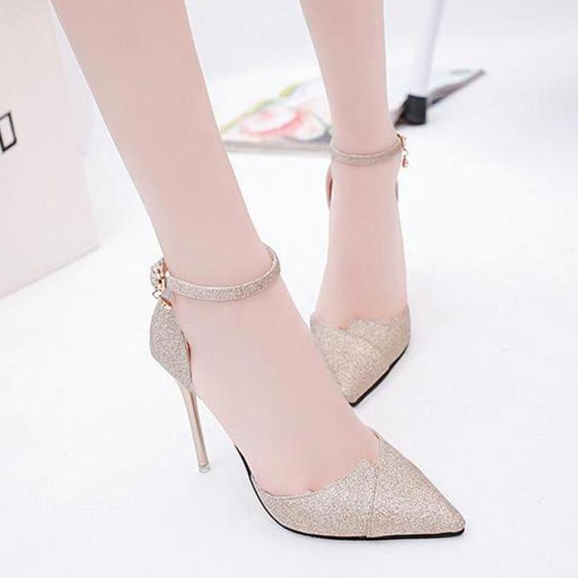 Giày Cao Gót Nữ 7cm Suede Leather Fashion giá rẻ