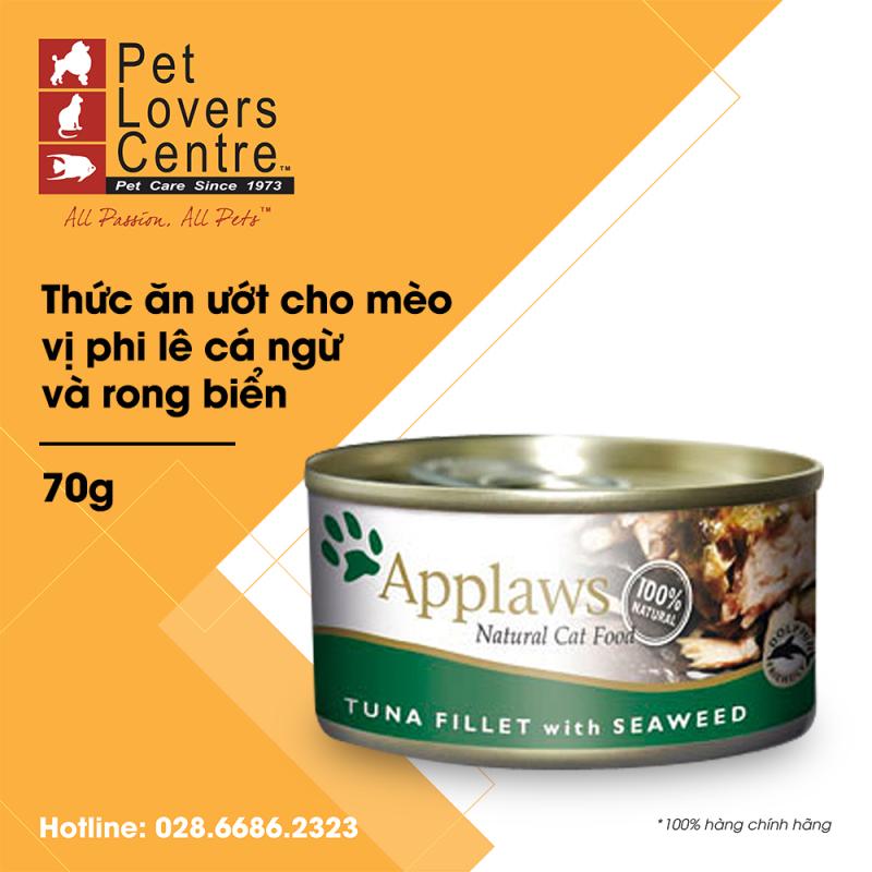 THỨC ĂN ƯỚT CHO MÈO APPLAWS  TIN TUNA FILLET WITH SEAWEED (CATS) 70g
