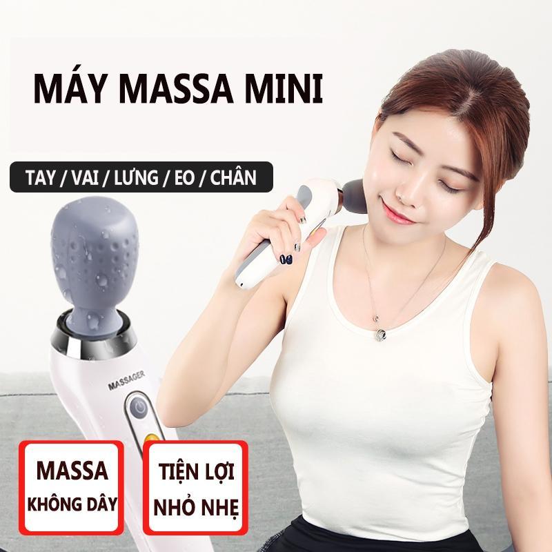 Máy Massage Mini đa Năng Tay Cẩm, Rung động Massage Cơ Bắp Toàn Thân Giá Rất Tiết Kiệm