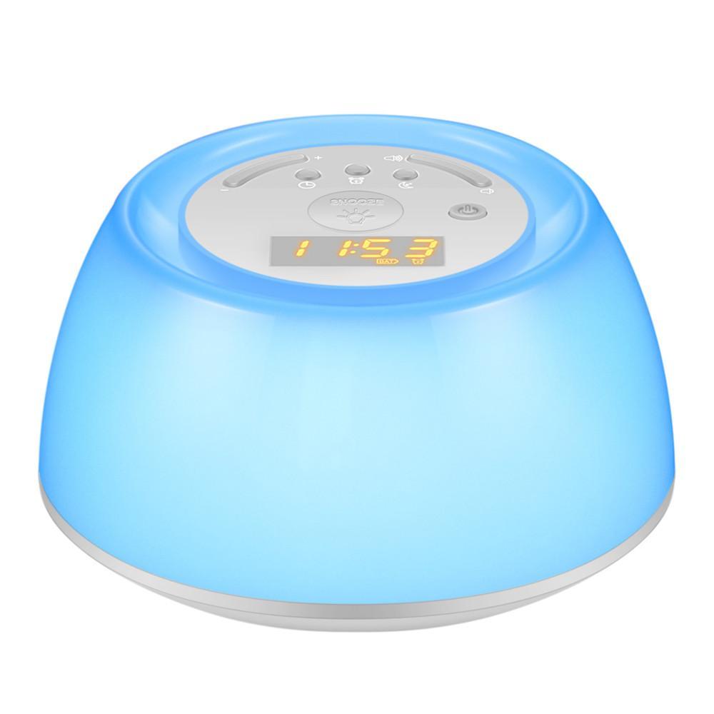 ORIA LED Cảm Ứng Đèn Đánh thức Báo Động Ánh Sáng Đồng Hồ Sunrise Mô Phỏng 5 Âm Thanh Tự Nhiên Sạc Bàn Để Bàn Cảm Ứng đèn Đêm đầy màu sắc bán chạy