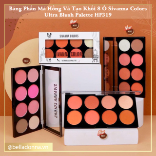Bảng Phấn Má Hồng Và Tạo Khối 8 Ô Sivanna Colors Ultra Blush Palette HF319 16g thumbnail