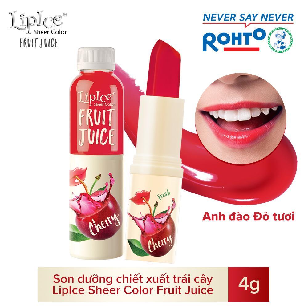 Son dưỡng chiết xuất trái cây Lipice Sheer Color Fruit Juice Cherry 4g (Anh Đào Đỏ Tươi)