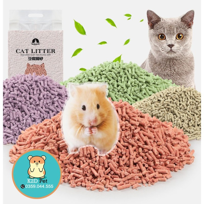 Lót Chuồng Đậu Nành - Lót Chuồng Tofu Cho Hamster Và Thú Cưng