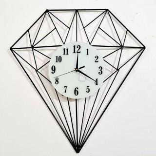 Đồng hồ treo tường kim trôi hiện đại trang trí hình kim cương mã 955 trang trí phòng khách thumbnail