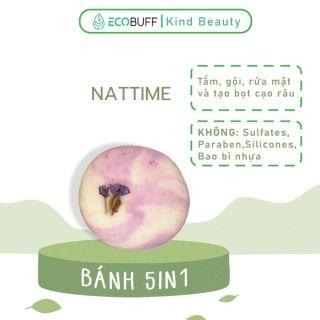 Sữa tắm gội đa năng lành tính men vi sinh dạng bánh Nattime không hóa chất sạch sâu dịu nhẹ - Handmade Ecobuff thumbnail