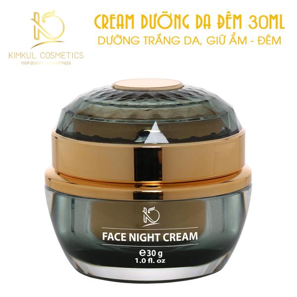 Cream dưỡng da Đêm KimKul Face Night Cream 30G - Tác dụng Dưỡng trắng da, giữ ẩm, chăm sóc da vào ban đêm tốt nhất