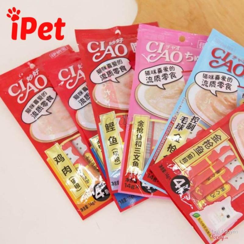 Thanh Pate Mèo Ciao Churu Cá Ngừ Nhiều Vị 12g- iPet Shop