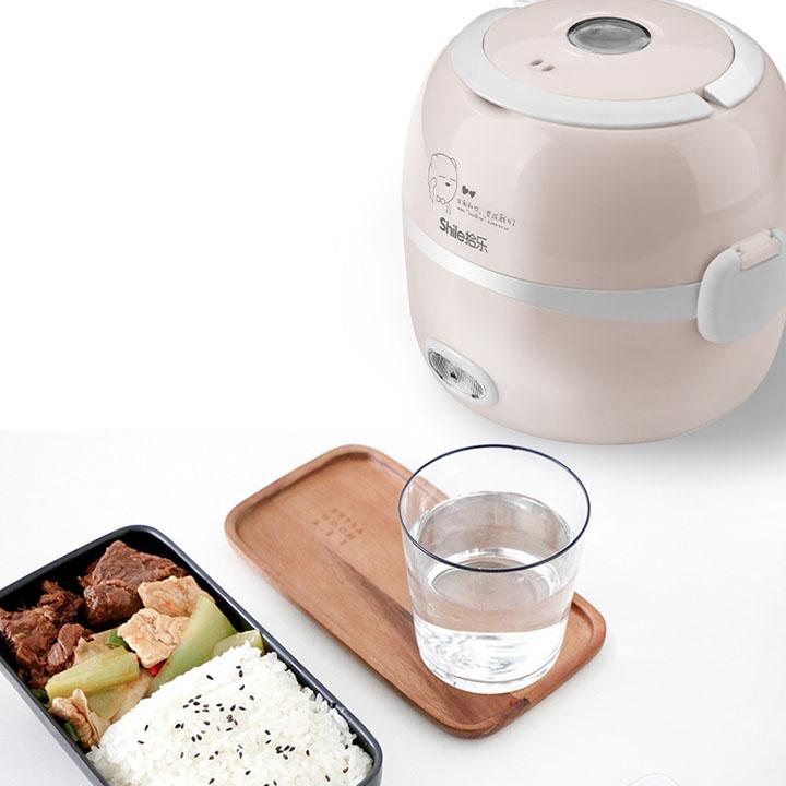 Nồi cơm điện mini 2 tầng - Nồi cơm điện mini - Nấu cơm và hâm nóng thức ăn