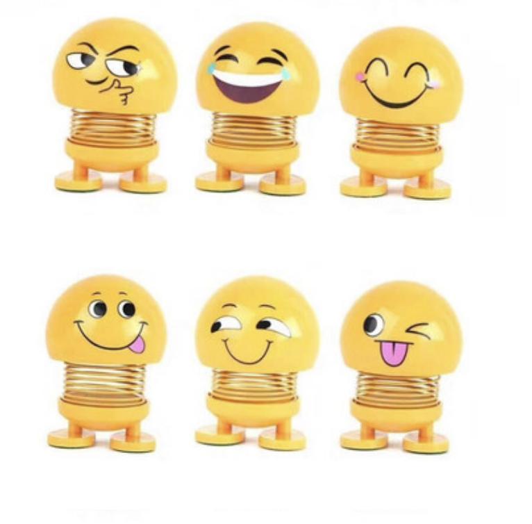 Lật Đật Icon Emoji Lò Xo Nhún Đồ Chơi Xả Stress - Lật Đật Icon Lò Xo Để Xe Ô Tô Vui Nhộn