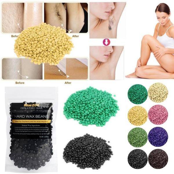 Wax lông - Sáp wax lông nóng hạt đậu 100g, tẩy tế bào chết cho da, lông mọc chậm hơn - Tẩy lông