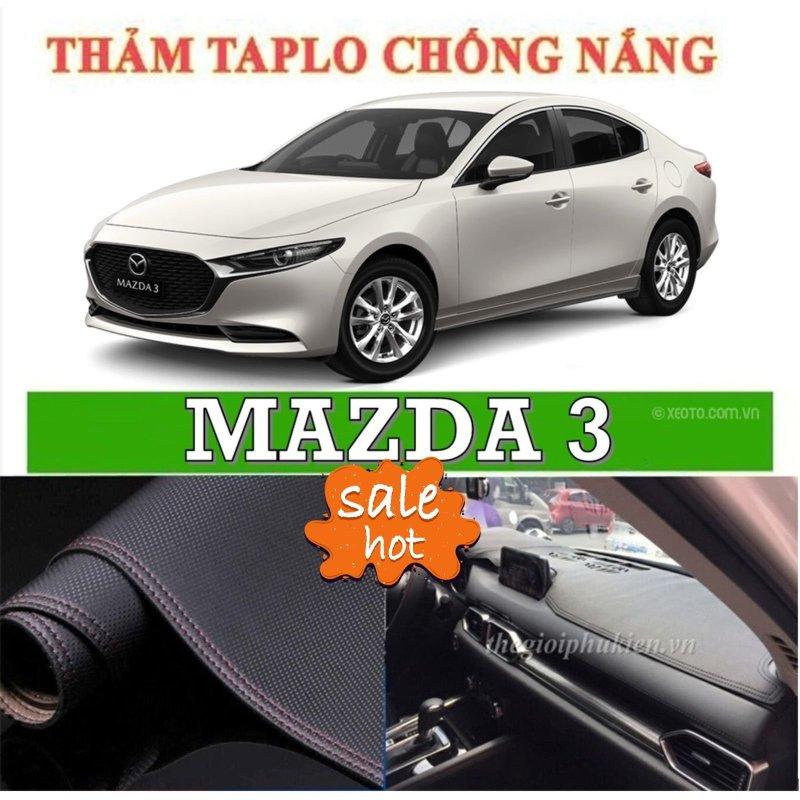 Thảm phủ taplo da xe Mazda 3 đời 2015 2019, thảm taplo da vân cacbon-Nhà Buôn Đồ Chơi Xe Hơi