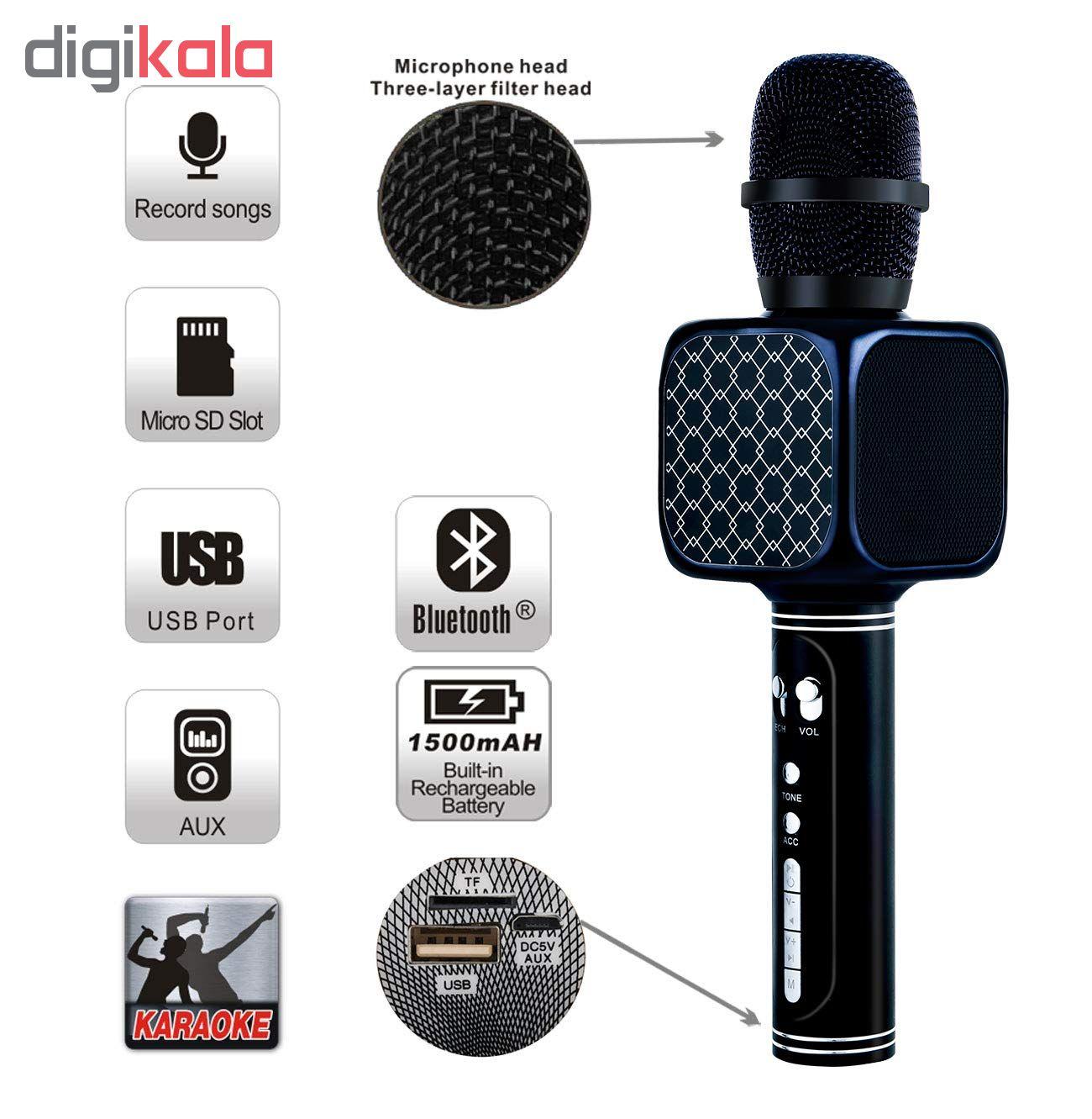 YS-69 Mic Hát Karaoke Bluetooth Không Dây Kèm loa Âm vang Ấm mic hát karaoke cầm tay mini micro hát trên xe hơi mic hát karaoke hay nhất hiện nay