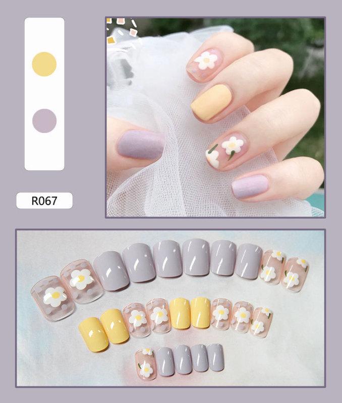 [SIÊU RẺ]Bộ 24 móng tay giả cực xinh (kèm keo) - 67 giá rẻ