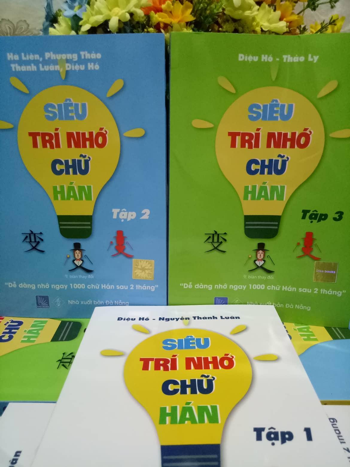 Combo 3 quyển luyện nhớ 3000 chữ Hán cấp tốc trong vòng 2 tháng ( tập 1+2+3) (mỗi chữ Hán là 1 câu chuyện)