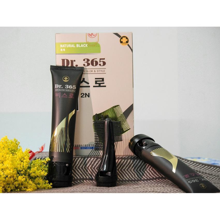 Bộ Lược kèm 2 Tuýp Nhuộm đen tóc thảo dược Hàn Quốc nhập khẩu