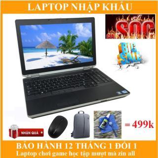 Laptop Dell Latitude E6520 i7 Ram 8GB SSD 128GB chơi game + lập trình + đồ họa ổn tặng kèm tay chơi game. thumbnail