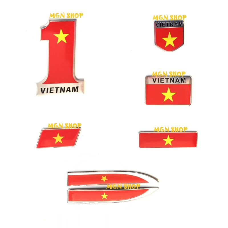 [Logo] [Decal] [Sticker] [cờ Việt Nam] Alumium