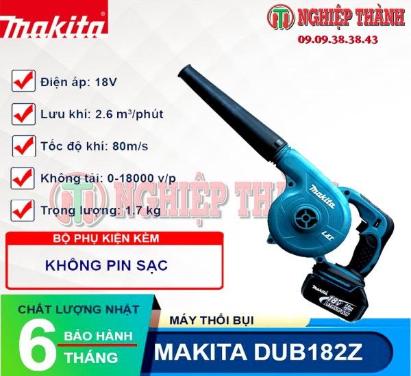 Máy thổi dùng Pin 18v Makita DUB182Z (không pin sạc)