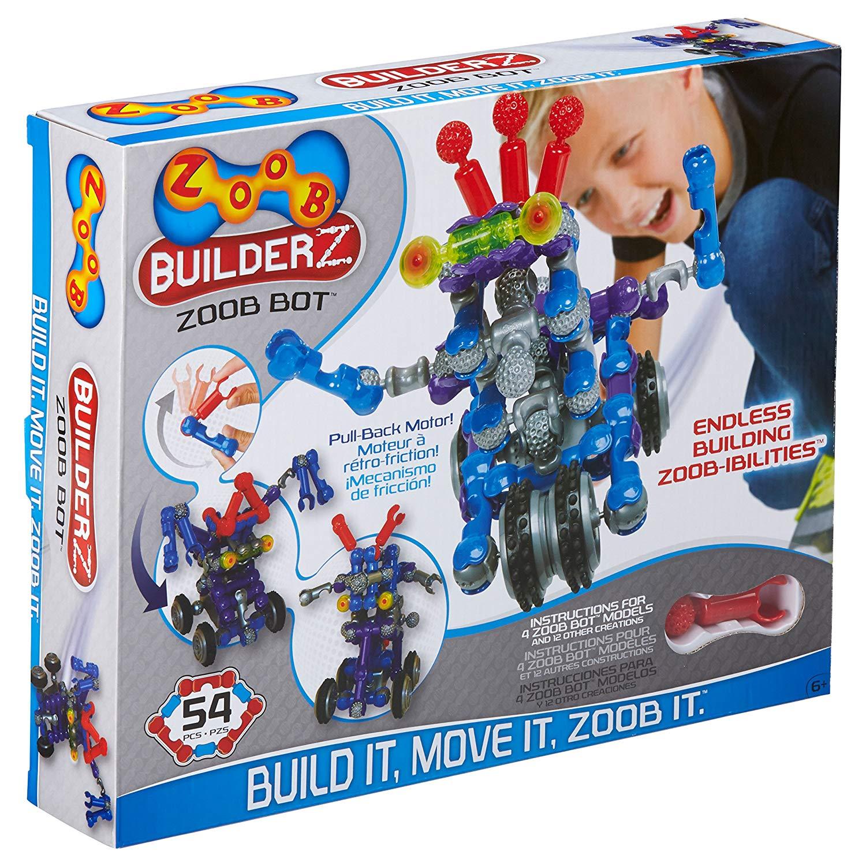 BỘ ROBOT LẮP GHÉP 54 MÓN ZOOB BuilderZ ZOOB Bot Moving Building Modeling System