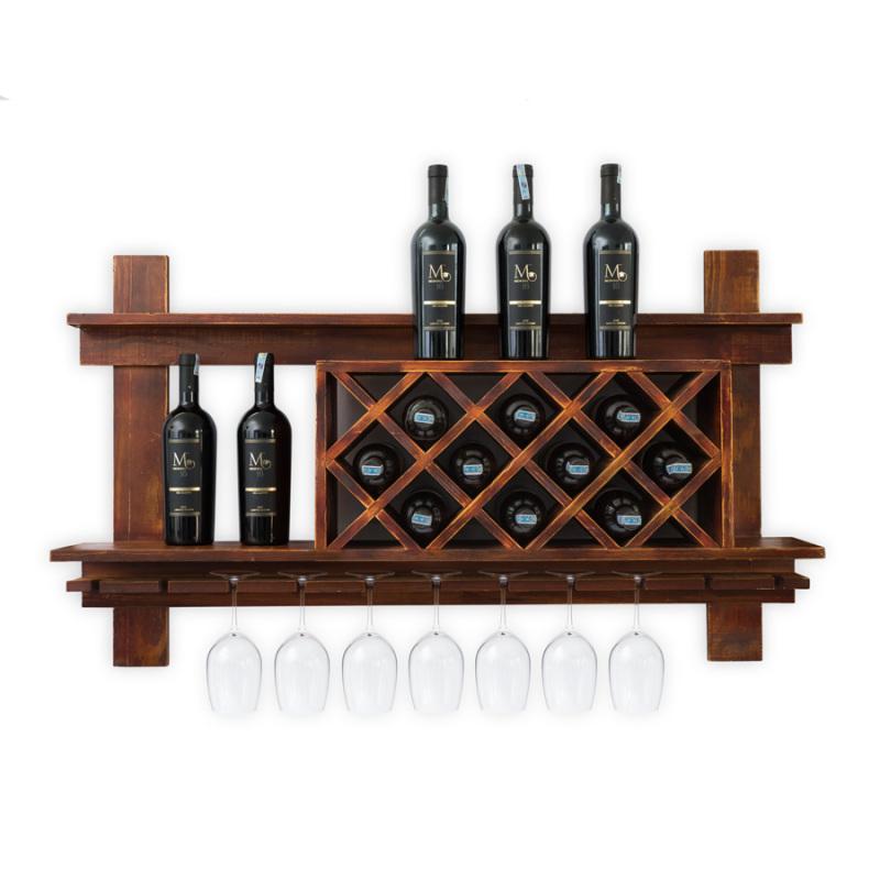 Kệ Rượu Treo Tường KR32
