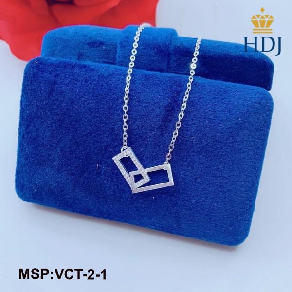 Hot dây chuyền nữ bạc 925 hình chữ nhật đơn gian đẹp sang trọng trang sức cao cấp HDJ mã VCT-2-1