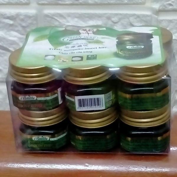 12 Dầu cù là ( cao xoa bóp ) thơm Thái Lan (Green Herb) 12 lọ x 10g MIỄN SHIP giá rẻ