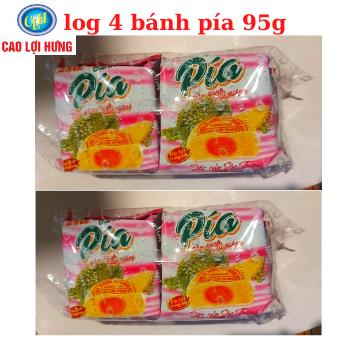 Bánh Pía Đậu Xanh Sầu Riêng 4 Cái Cao Lợi Hưng 380g