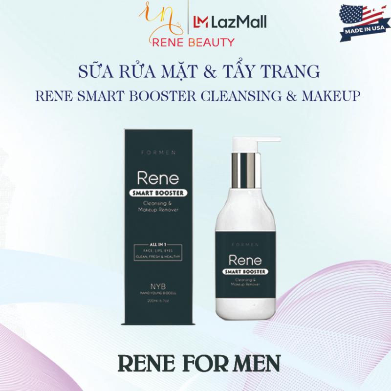Sữa rửa mặt tẩy trang cho nam Rene Smart Booster Cleansing & Makeup Remover[Làm sạch & tẩy trang;Đào thải tạp chất;Thúc đẩy tái tạo tế bào collagen;Sáng da và cân bằng độ ẩm tự nhiên;Kháng viêm ngừa mụn] giá rẻ