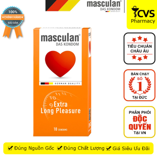 Bao Cao Su Masculan Long Pleasure Special Selection (Masculan Cam) Hộp 10 bao - Kéo dài thời gian - cvspharmacy thumbnail