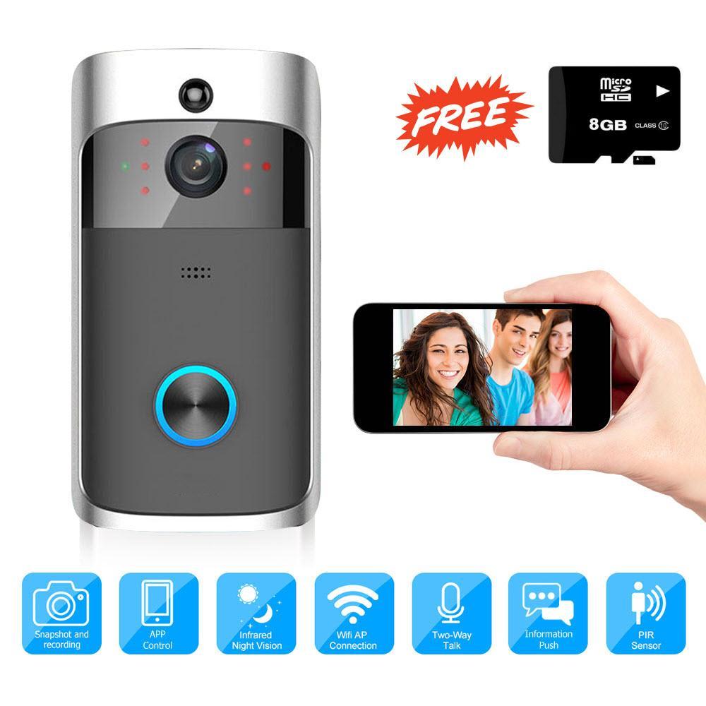 Camera Chuông Cửa Wifi Elitek ED08 720P