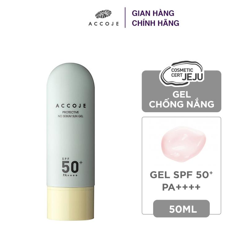 Gel chống nắng Accoje Protective No Sebum Sun Gel SPF 50+ PA++++ 50ml nhập khẩu