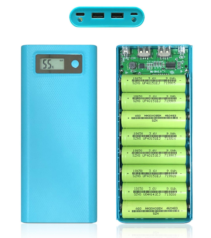 [Sỉ] - Khung sạc 8 pin 30.000mAh sử dụng pin 18650 (Mạch mới - Chưa pin)