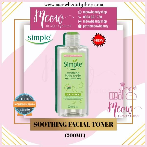 Simple - Nước Hoa Hồng Soothing Facial Toner Simple cân bằng ẩm cho da (200ml) nhập khẩu