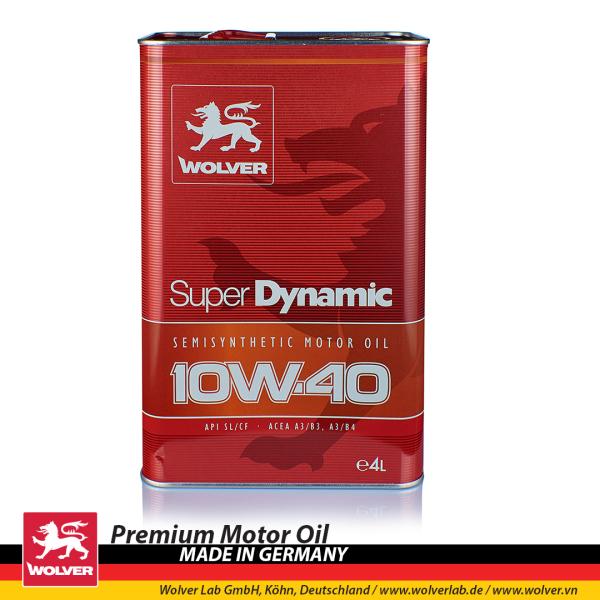 [HCM]Nhớt động cơ Ô TÔ cao cấp Wolver Super Dynamic 10W40 4L SL/CF (Chính Hãng Wolver)