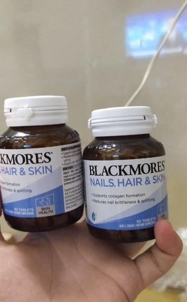 (Mẫu mới date 2022)-Viên Uống Hỗ Trợ Đẹp Da, Móng Và Tóc Blackmores Nails Hair Skin 60 Viên của úc giá rẻ