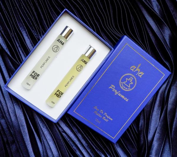 Set 02 chai nước hoa nam AHA998 & AHA999 (Allure Sport và Bleu) AHAPERFUMES 10ML
