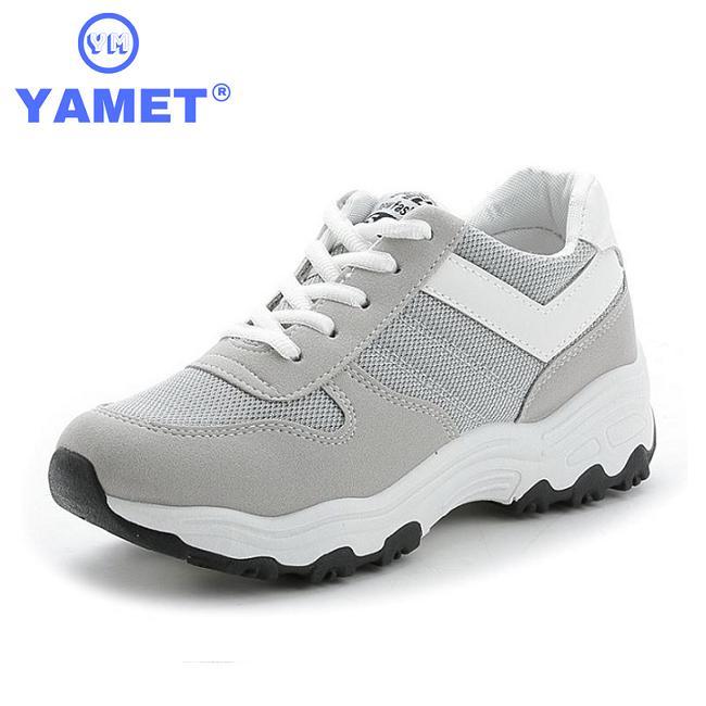 Giày Sneaker Thể Thao Nữ YAMET Siêu Hot Y3-685X Màu Xám