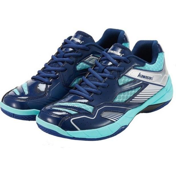 Giày cầu lông - Giày bóng chuyền nam nữ Kawasaki K159 mầu xanh giá rẻ