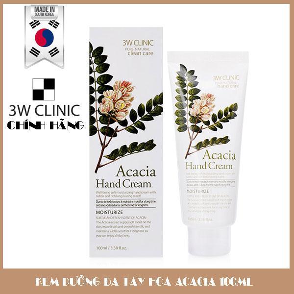 Kem Dưỡng Da Tay Chiết Xuất Hoa Acacia 3W Clinic Hand Cream 100ml