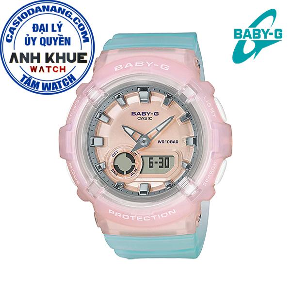 Đồng hồ nữ dây nhựa Casio Baby-G chính hãng Anh Khuê BGA-280-4A3DR (43mm)