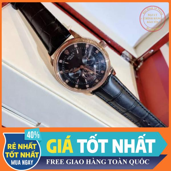 [ ĐỒNG HỒ BẢO TÍN ] Đồng hồ nam cao cấp đồng hồ nam dây da LEXO0180-máy cơ-size 40mm-Full Box