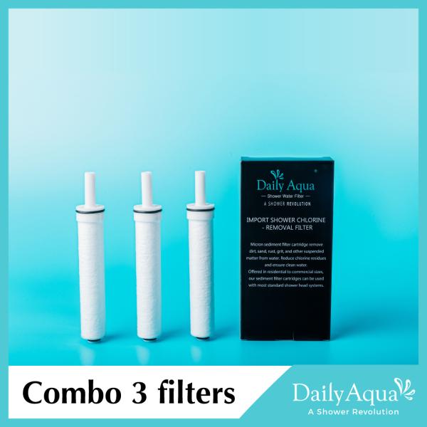 Bảng giá Daily Aqua Lọc nước dùng cho vòi sen - 1 hộp 3 lõi lọc