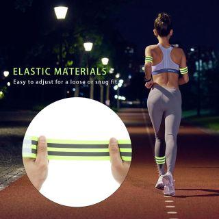 SAUSAGE Đạp xe Khả năng hiển thị cao Đi bộ ban đêm với 2 dải phản quang Dây đai phản quang an toàn Đai phát sáng Dây đeo phản quang Dây đeo tay phát sáng thumbnail