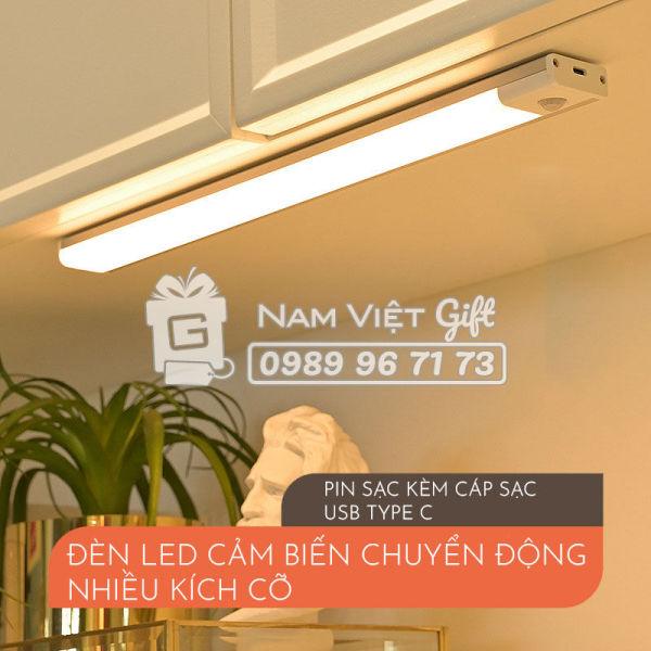 [Pin Sạc Cao Cấp] Đèn LED Cảm Biến Chuyển Động Nhiều Kích Cỡ, Cảm Ứng Hồng Ngoại 3 Chế Độ