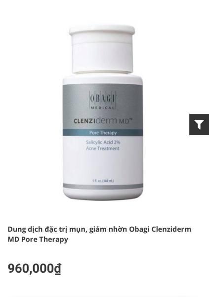 [ NHẬP KHẨU ] Dung dịch loại bỏ tế bào chết BHA Obagi Clenziderm MD Pore Therapy 148ml