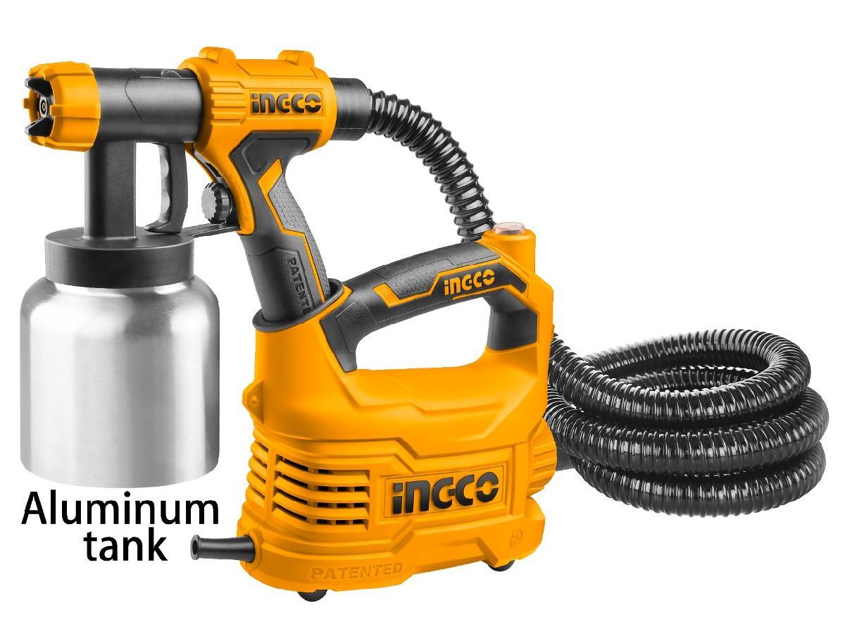 500W Máy phun sơn bình nhôm INGCO SPG5008-2 (  kèm theo gồm 1 ly lường độ nhớt và 1 kim làm sạch vòi phun - 1 dây đeo vai )