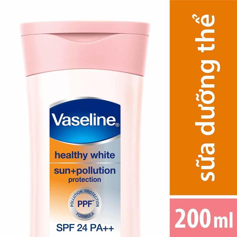 Sữa Dưỡng Thể Vaseline Trắng Da Chống Nắng Và Ô Nhiễm (200ml) tốt nhất