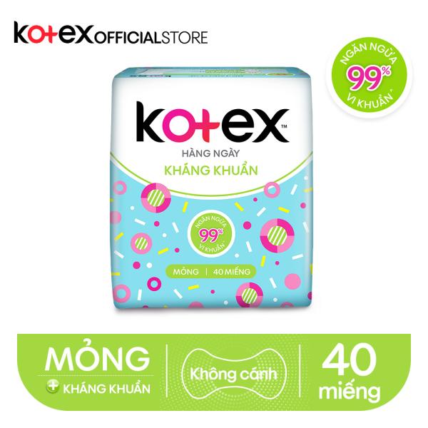 Combo 4 Gói BVS Kotex hằng ngày kháng khuẩn (40 miếng/gói) nhập khẩu