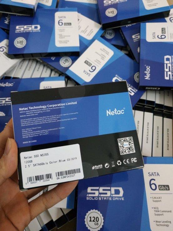 Ổ CỨNG SSD NETAC 120GB SATA 3 6GB/S HÃNG PHÂN PHỐI